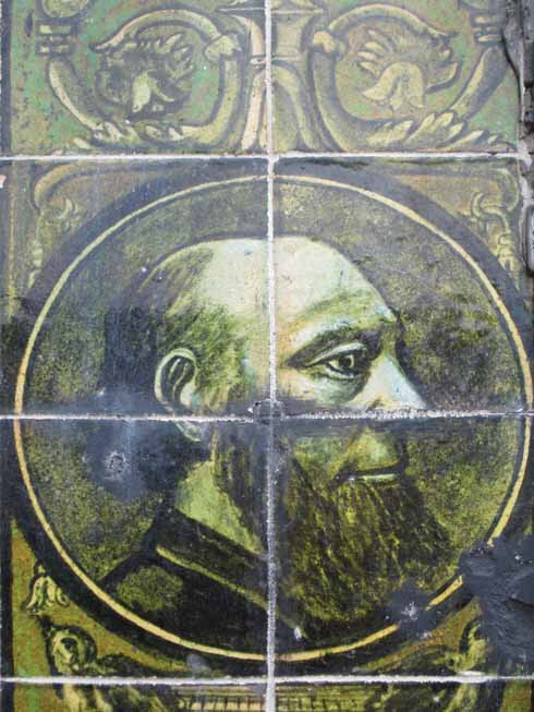 Gracing the wall of Joseph Terrace, outside Le Chic nightclub in Old Christchurch Road is this image of Joseph Cutler, described by rival developer Henry Joy as 'a good likeness, even capturing the crack in his head'.