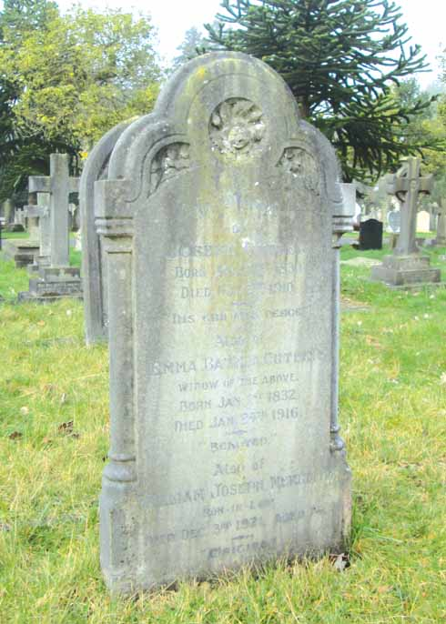 Joseph Cutler's memorial stone is, compared with his life, rather unassuming