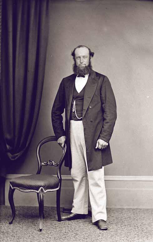 Joseph Cutler in a formal portrait from 1868