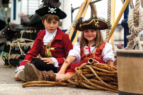 Why are these children dressed as pirates? Because they 'Aaaarrrghhhhhh'