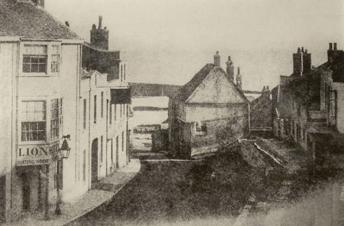 One of the earliest photographs of Lyme Regis, looking down Broad Street to the sea, dating possibly from as early as 1850, only three years after Mary Anning's death. This is the town as she knew it.