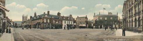 A panorama of the Square very much as Harry would have known it in his early childhood